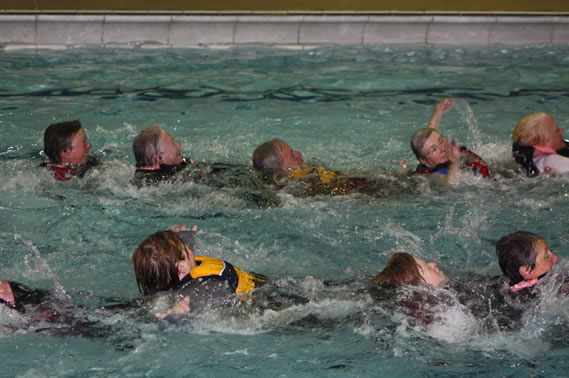 Water confidence session at Kendal Leisure Centre.