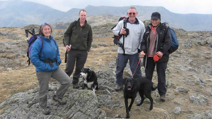 Aly and Tony led a wonderful walk up onto Wetherlam in the Coniston Fells.