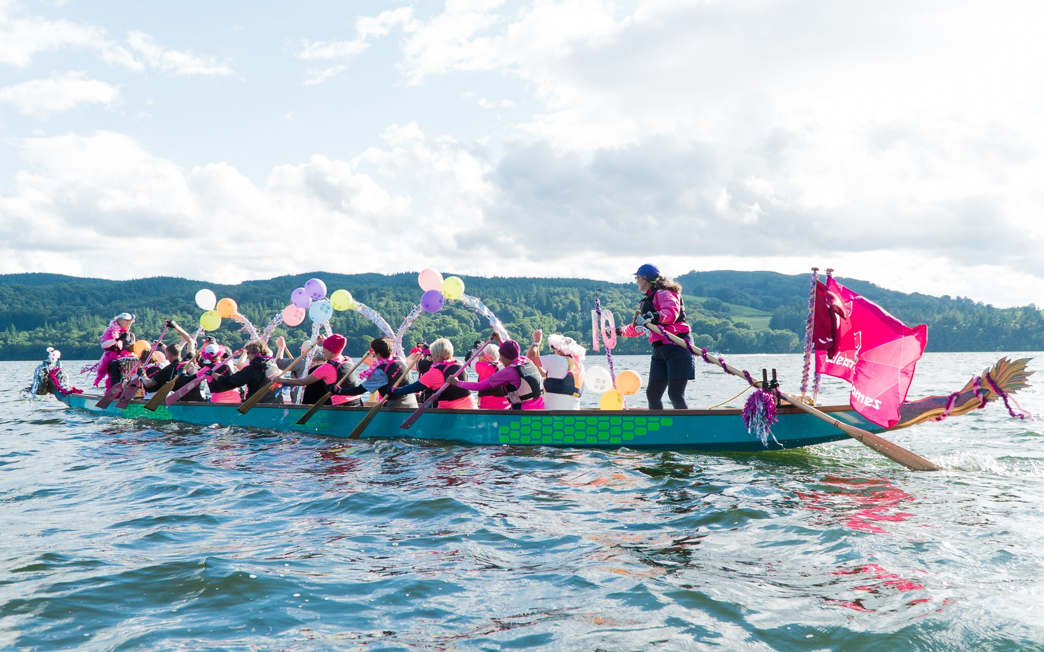 2017 and another windy paddle to Bowness to join the best dressed boat parade.