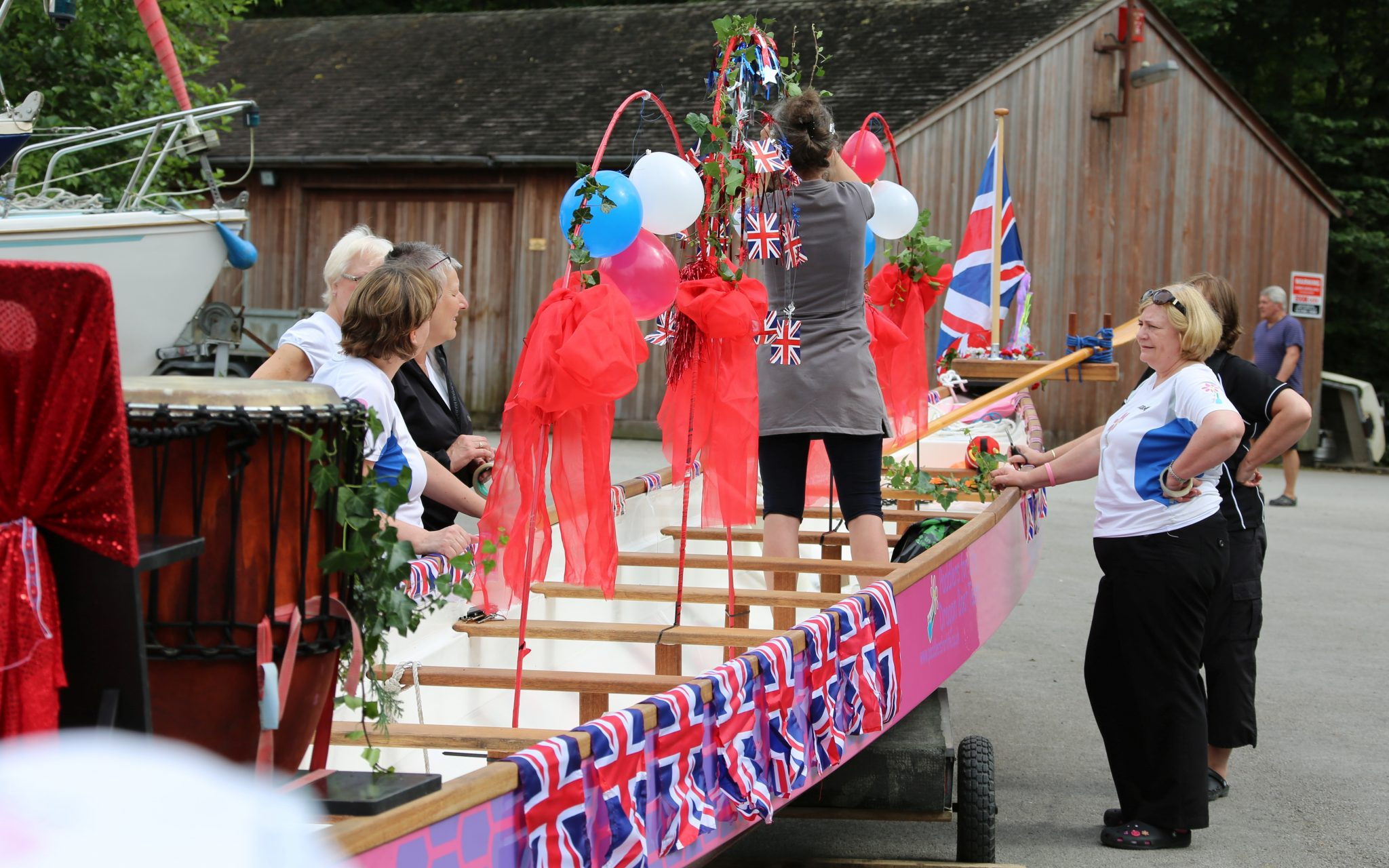 2011 and another best dressed boat competition organised by the Lake District Boat Club. Having paddled in the Queen's Jubilee Pageant on the Thames there could only be one theme.