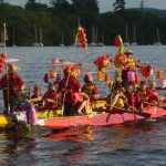 Click for images of Paddlers for Life in the Best Dressed Boat competition.