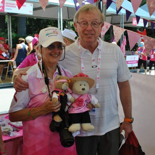 Ann meets Dr. Don McKenzie. His initial sports science research about exercise for breast cancer patients led to this point with hundreds of teams worldwide.