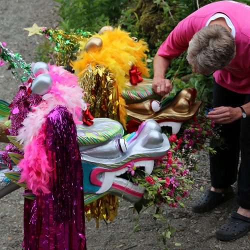 Barbara is a supporter who has organised fund raising activities and is a key member where things need decoration such as our dragon heads or best dressed boat events. 2014