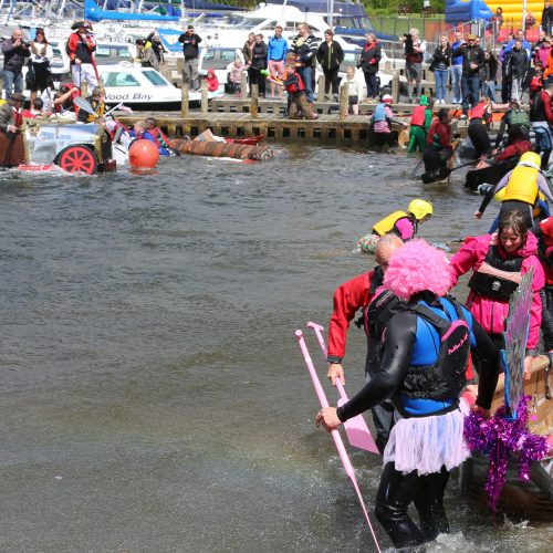 The 'sea monster' has overcome the intrepid paddlers.