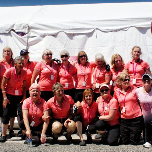 The cancer survivors who paddled as a team along with a couple of supporters.