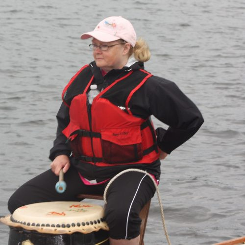 Mags has a lot of experience of drumming and knows the race start routines and how and when to call for the extra power that may be needed.