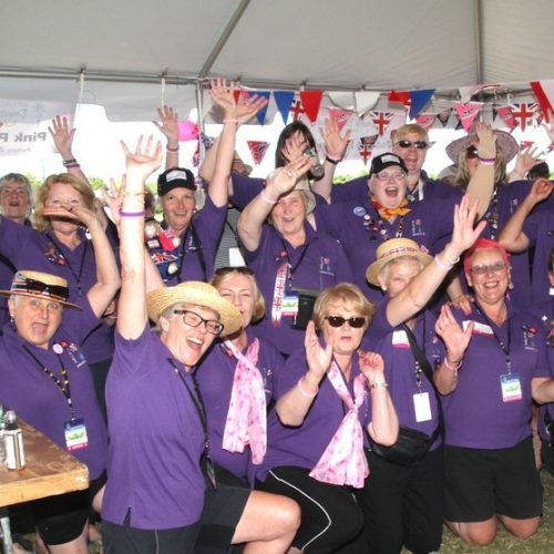 The Paddlers for Life team included paddlers and supporters all telling our story in the team tent.