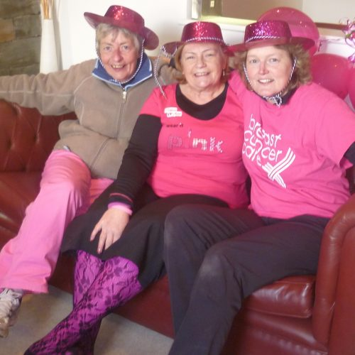 Finising with a pink celbration in 2012.