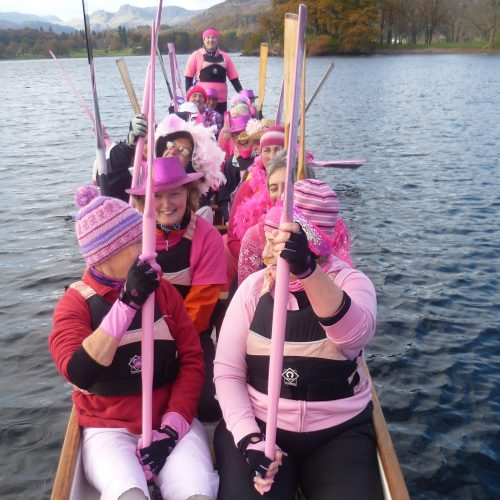 Paddle in pink salute breast cancer awareness in 2012.