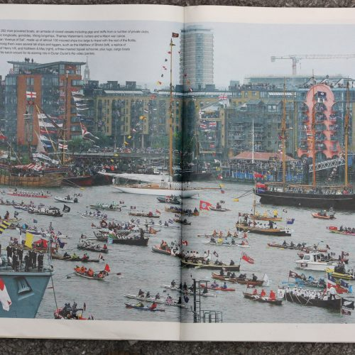 This photo from the Telegraph newspaper shows our pink dragon boat top left.