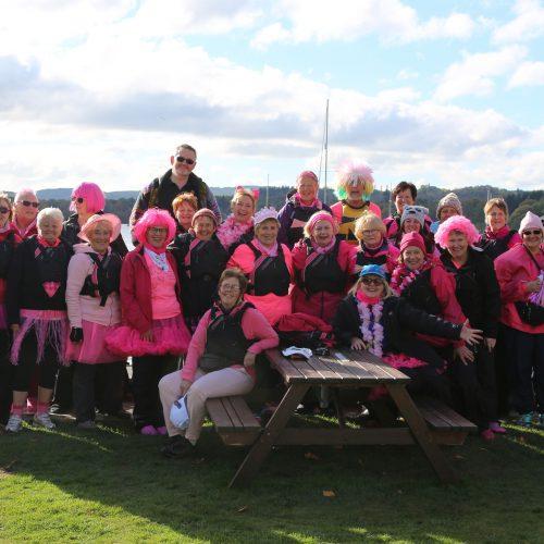 Pink Paddle crews at Wateredge in 2016.