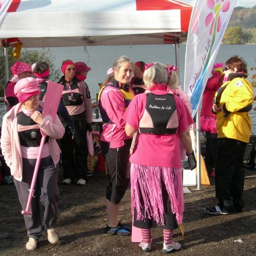 Preparing for the first breast cancer awareness paddle event 2011.