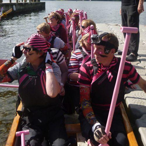 All aboard the pirate dragon boat.