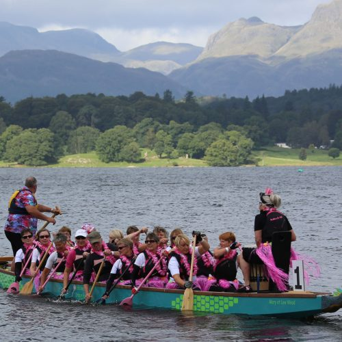 Could there be a better place to paddle a dragon boat in a regatta?